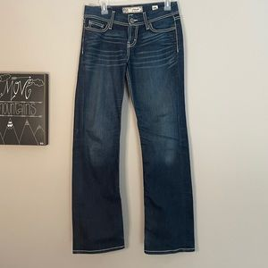 BKE Harper boot cut mid-rise dark wash jeans 26